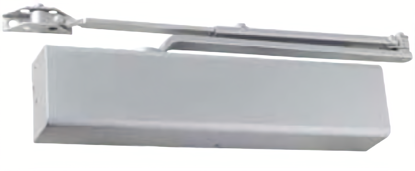 Dexter DCM1000.STD.FULL.HW/PA.ALUM Medium Duty Surface Mount Door Closer with Full Cover and Hold Open Arm Aluminum Finish