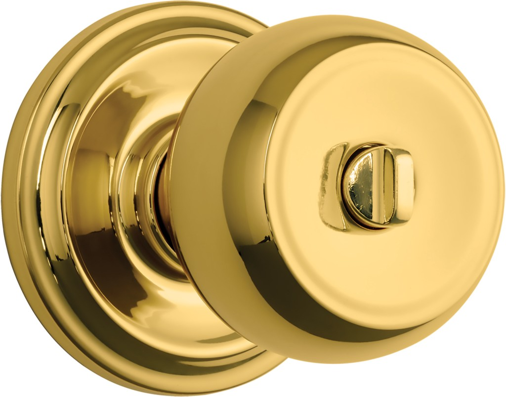 Brinks 23021-105 Stafford Privacy Push Pull Rotate Lockset Polished Brass Finish