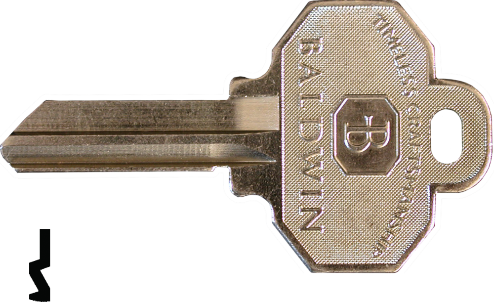 Baldwin 8336152 Key Blank 6-Pin C Keyway
