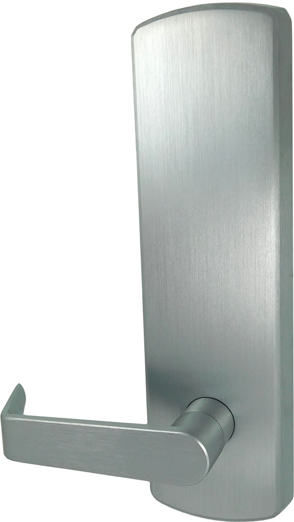 Dexter ED1000T-PASS-R-ESC-US26D Passage Blank Escutcheon Lever Exit Device Trim with Regular Lever Satin Chrome Finish