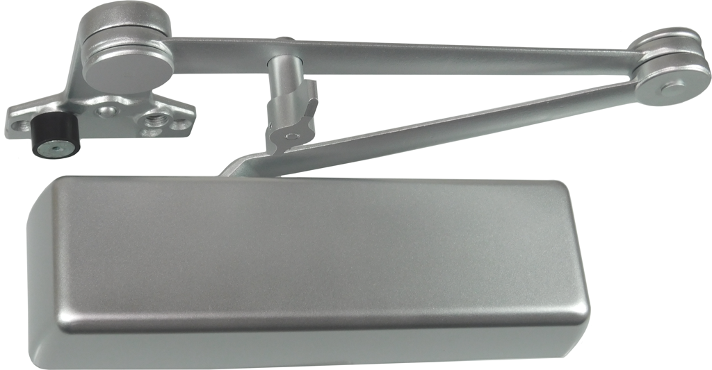 Dexter DCH4000.STD.FULL.DS/HO.ALUM Heavy Duty Surface Mount Door Closer with Full Cover and Dead Stop Hold Open Arm Aluminum Finish